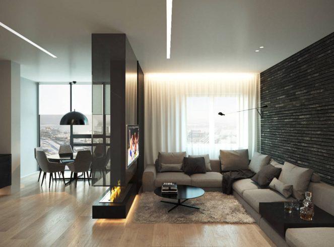 Современный ремонт квартиры зонирование
