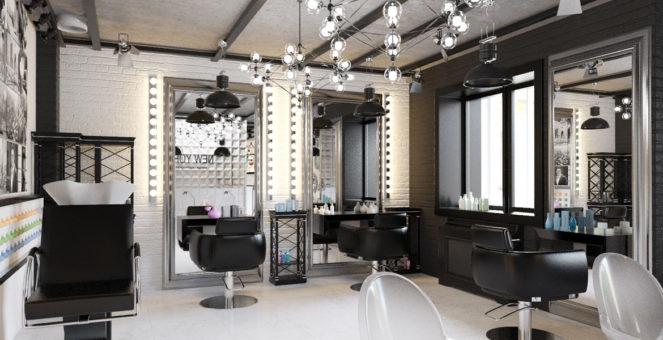 интерьер парикмахерской и салона красоты