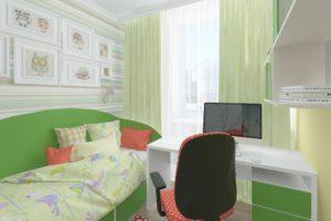 Дизайн интерьера ЖК Аметист 93м2, фото 2