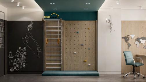 дизайн детской комнаты с турником 2021 фото