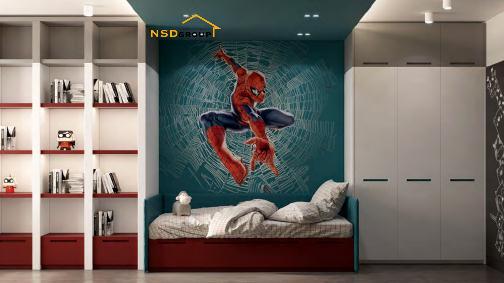 дизайн детской комнаты с супергероями фото