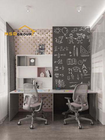 дизайн стола в детскую для мальчика и девочки фото